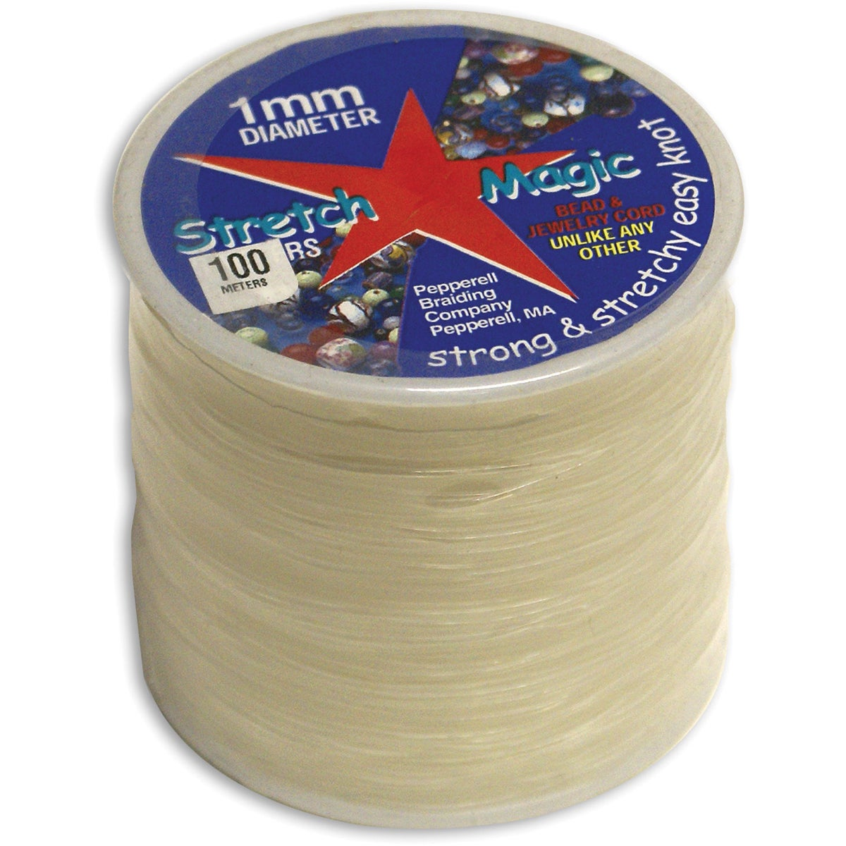 Pepperell Braiding Stretch Magic 100-meter Clear Bead and...