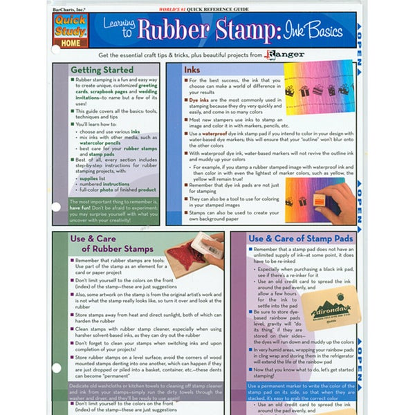 Quick Study Reference Guide-Rubber Stamp: Ink Basics