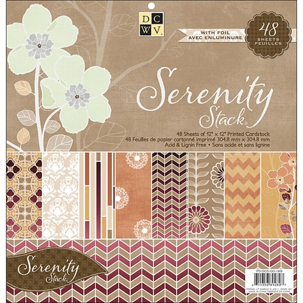 Die Cuts with a View Serenity Paper Stack (48 Sheets)