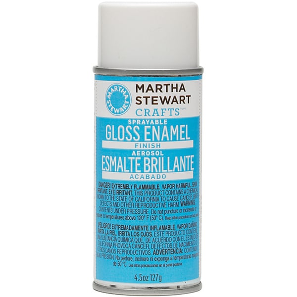 Martha stewart sprayable gloss enamel finish 4 5 ounce for Martha stewart crafts spray paint kit