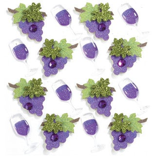 Jolee's Wine Glass and Grapes Mini Repeats Stickers