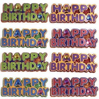 Jolee's Happy Birthday Words Mini Repeats Stickers