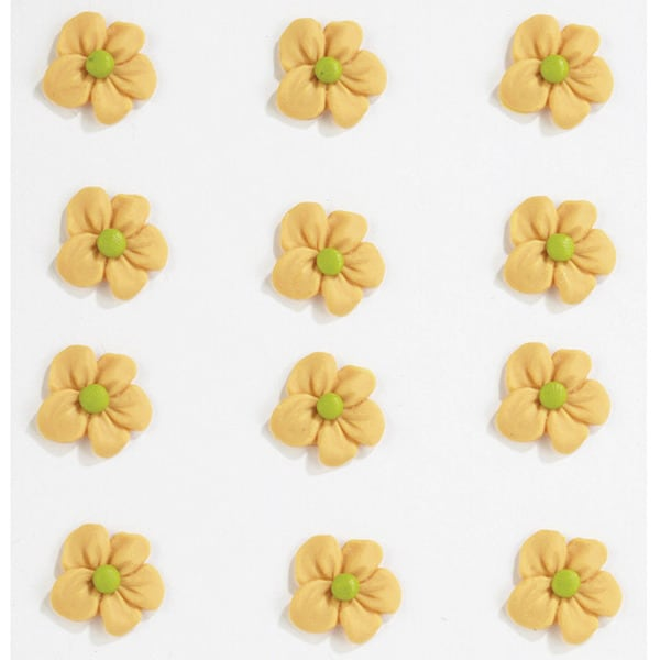 Jolee's Orange Green Icing Flowers Confections Stickers
