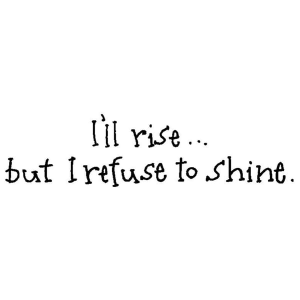 Art Impressions Just Say It Cling Rubber 'I'll Rise' Stamp