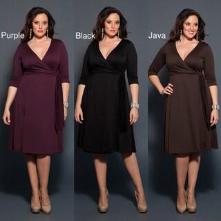 Kiyonna 'Poetic' Women's Classic Wrap Dress