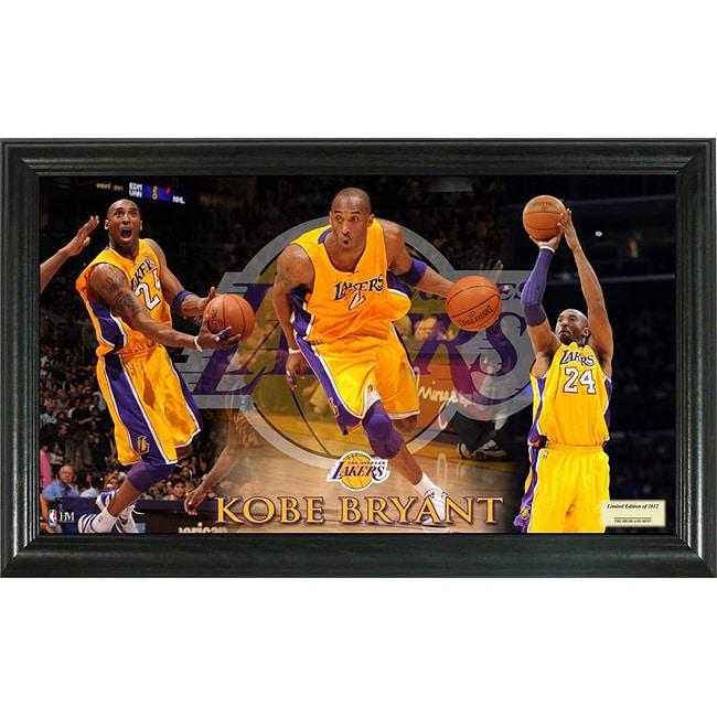 Los Angels Lakers Kobe Bryant Pano Collectible Framed Photo
