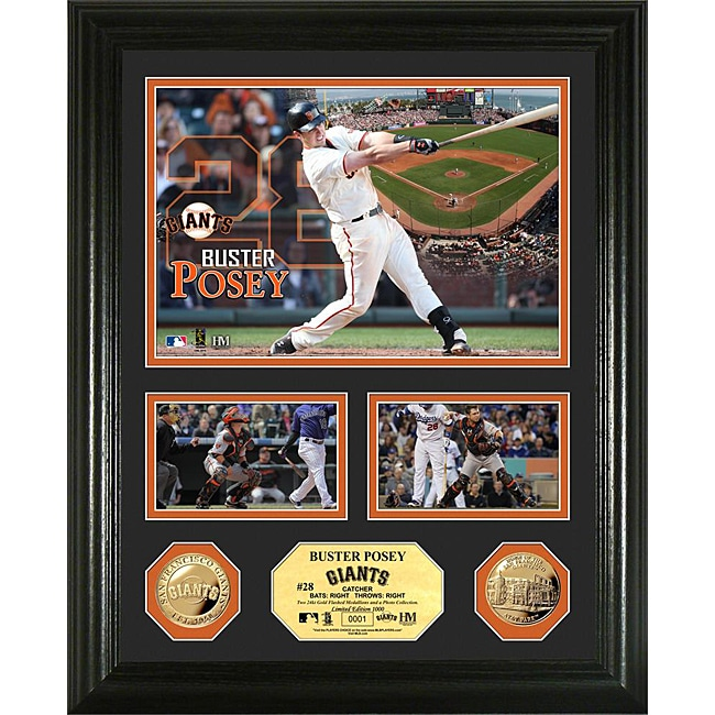 Buster Posey Gold Coin 'Showcase' Photo Mint