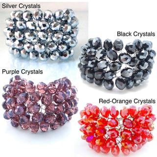 Crystal Charm Five Row Net Handmade Bracelet (Thailand)