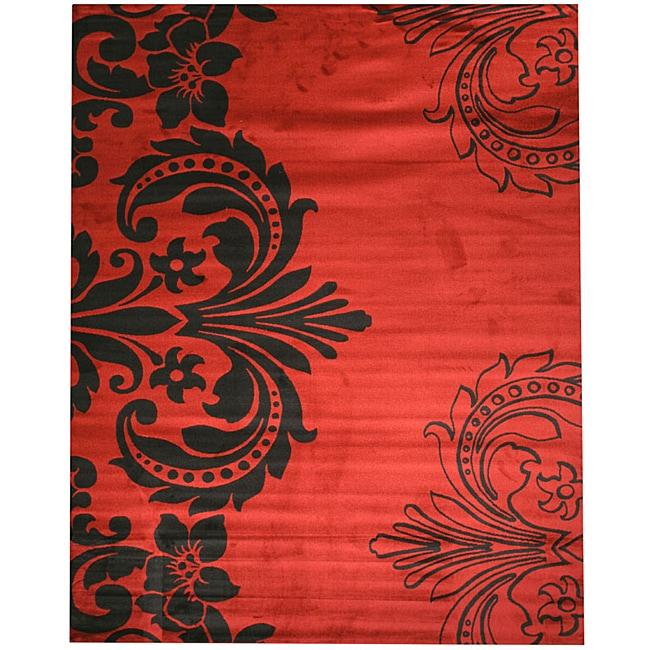 EORC Red Sofia Rug (8'10 x 9'10)