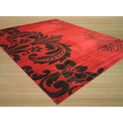 Red Contemporary Abstract Sofia Rug (8'10 x 9'10) - Thumbnail 1