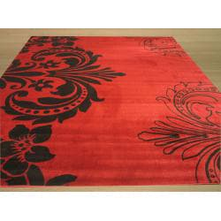 Red Contemporary Abstract Sofia Rug (8'10 x 9'10) - Thumbnail 2