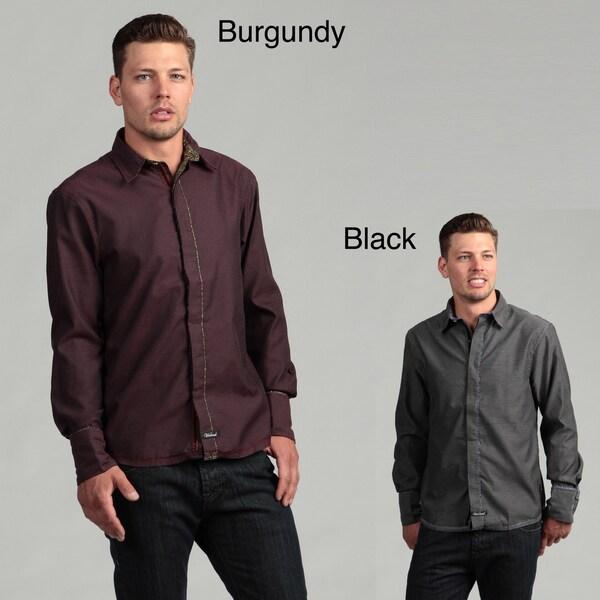 Scott Weiland Men's 'Poolsbrook' Checkered Woven Shirt