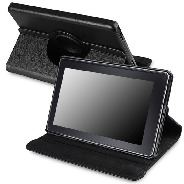 Black 360-degree Leather Swivel Case Version 2 for Amazon Kindle Fire