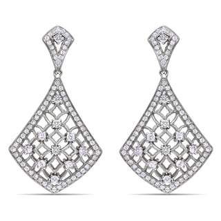 Miadora 14k White Gold 1 1/4ct TDW Diamond Earrings (G-H, SI1-SI2)