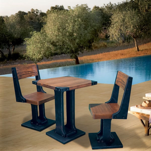 Raquel Wood 3-piece Dining Set by Christopher Knight Home