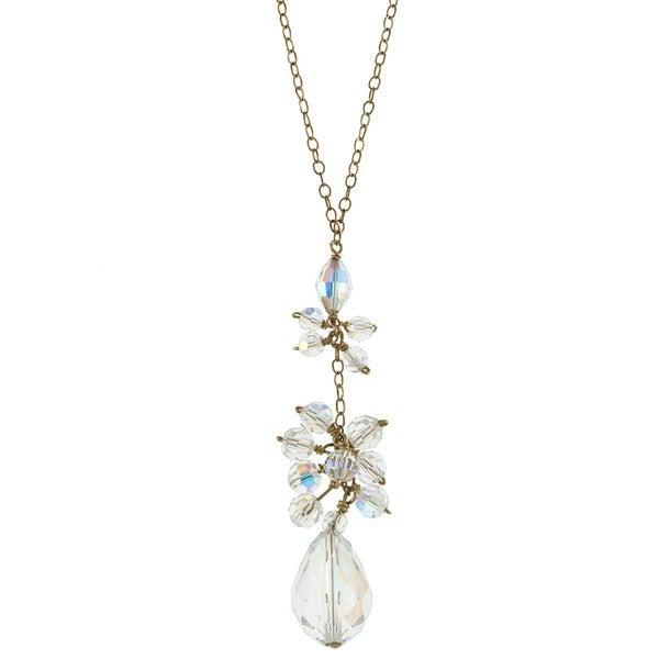 Crystal Drop Cluster Necklace