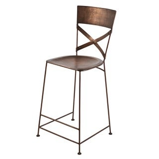 X-Back Counter Copper Stool