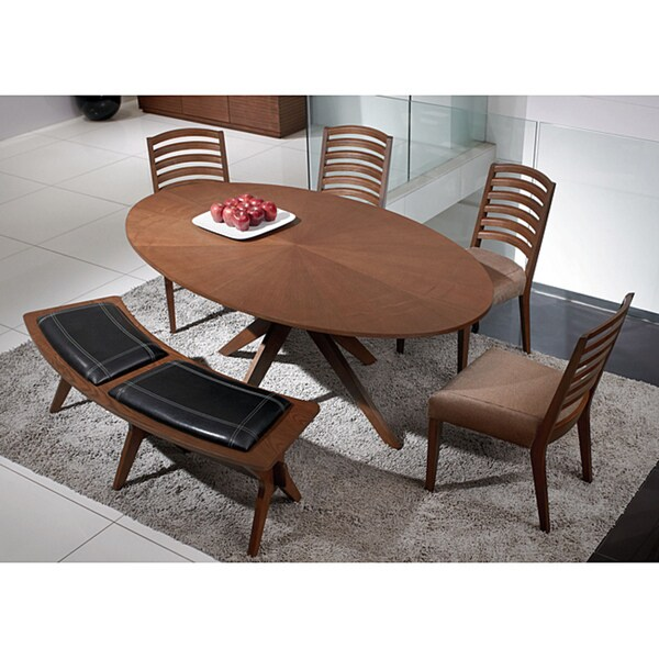 Jessica Cocoa Finish 6-piece Dining Set