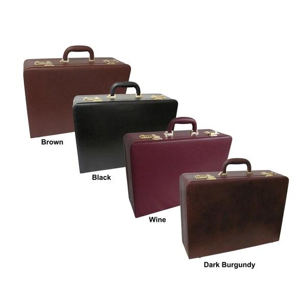 Shop Amerilether Large Expandable Faux Leather Attache Case - Free ... 32a9a57779202
