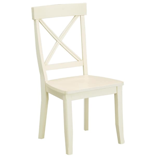 Antique White Finish Dining Chairs Set of 2 by Home Styles