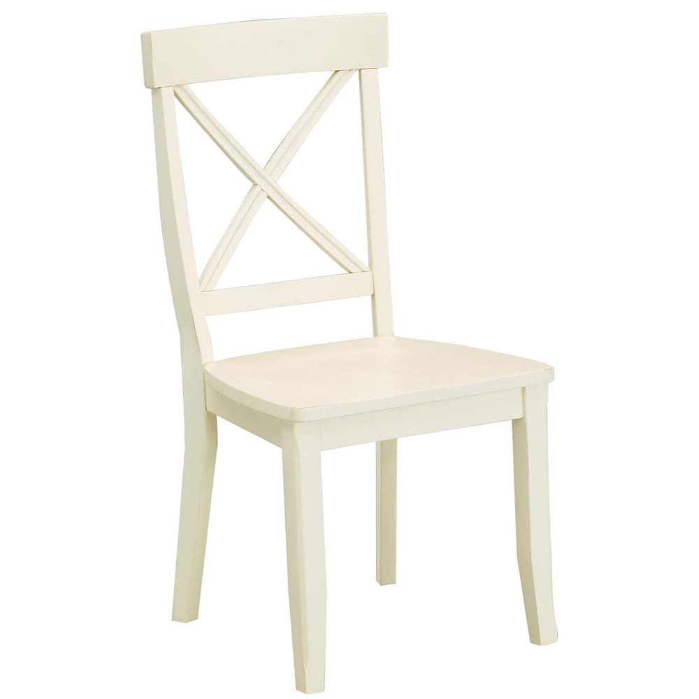 Maison Rouge Abbott Antique White Finish Dining Chairs (Set of 2)