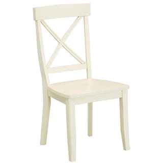Home Styles Antique White Finish Dining Chairs (Set of 2)