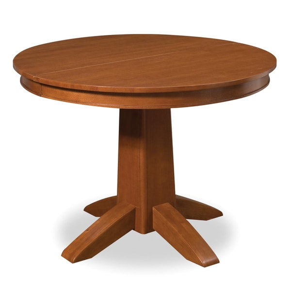 Arts Crafts Cottage Oak Round Dining Table Free Shipping Today 6635549
