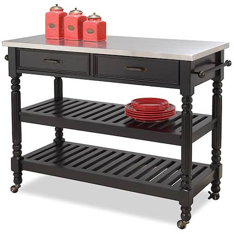 The Gray Barn Cranberry Field Black Kitchen Cart