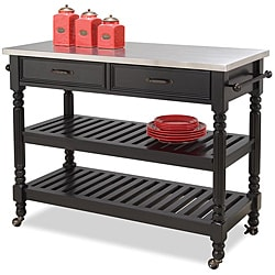 Home Styles Savannah Black Kitchen Cart