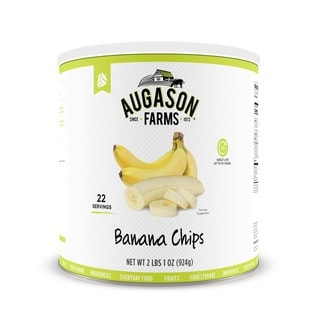 Augason Farms Honey Coated Banana Slices 33 oz. #10 Can