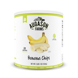 Augason Farms Honey Coated Banana Slices 33 oz. #10 Can