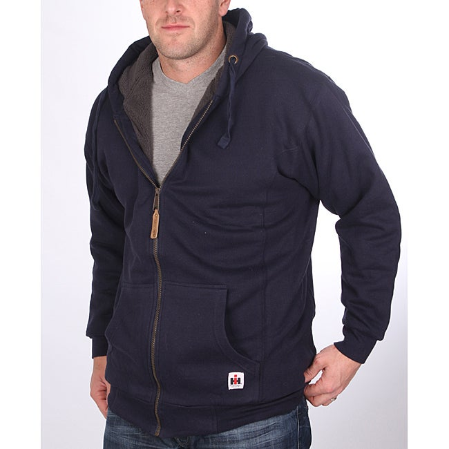 Farmall IH Men's Big/Tall Sherpa Lined Navy Hoodie - Thumbnail 0