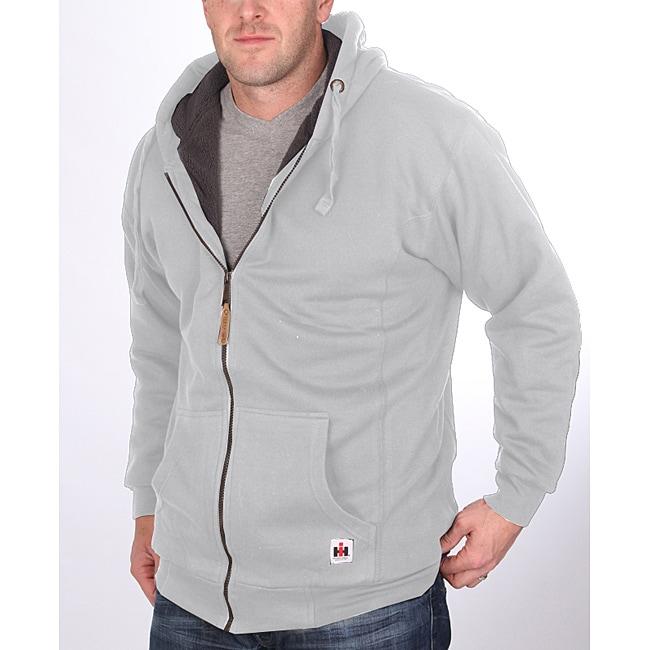Farmall IH Men's Big/ Tall Sherpa Lined Grey Hoodie