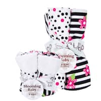 Trend Lab Bib and Burp Cloth Set in Zahara Zebra