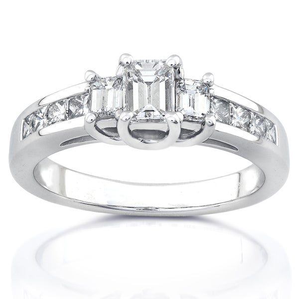 Annello by Kobelli 14k White Gold 1ct TDW Diamond Engagement Ring (H-I, SI1-SI2)