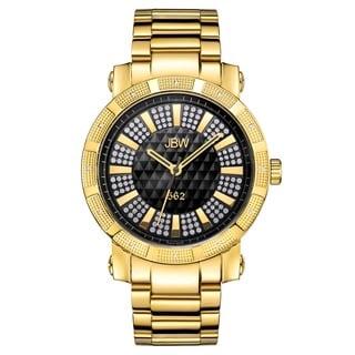 JBW Men's Oversized '562' Stainless Steel Swiss Quartz Diamond Watch