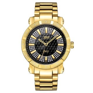 Jbw Men'S Oversized '562' Stainless Steel Swiss Quartz Diamond Watch