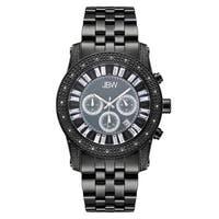 JBW Men's 'Krypton' Black  Chronograph Diamond Watch