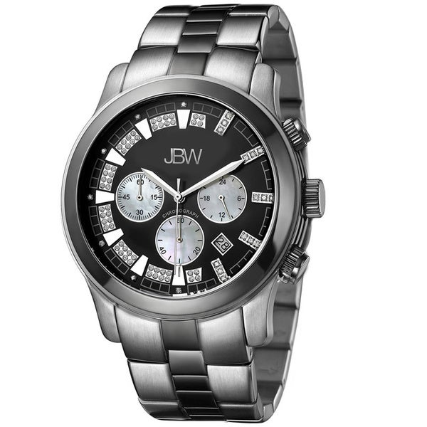 JBW Men's 'Delano' Two-Tone Chronograph Diamond Watch