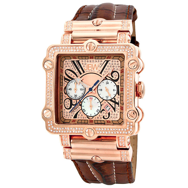 JBW Men's 'Phantom' Rose Goldplated Chronograph Diamond Watch