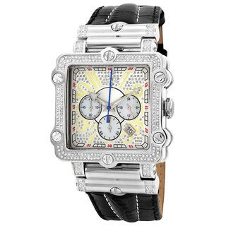 JBW Men's 'Phantom' Silver Diamond and Stainless Steel Watch