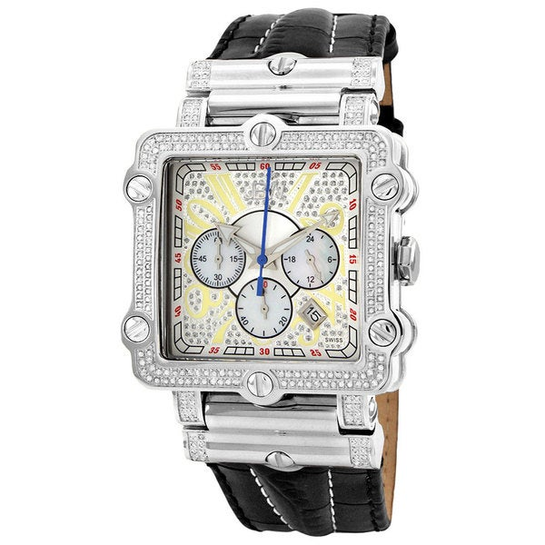JBW Men's 'Phantom' Silver Diamond and Stainless Steel Watch