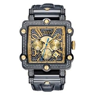 JBW Men's 'Phantom' Diamond and Gold/ Silver Bezel Watch