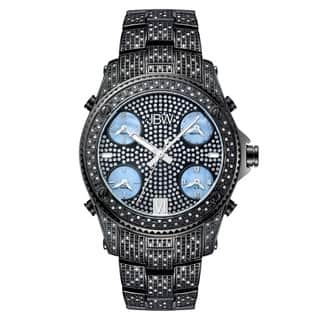 JBW Men's 'Jet Setter' Black Ion-Plated Five Time Zone Diamond Watch https://ak1.ostkcdn.com/images/products/6635664/P14199909.jpg?impolicy=medium