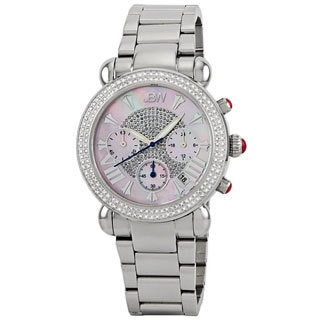JBW Women's Stainless Steel Diamond Chronograph Watch