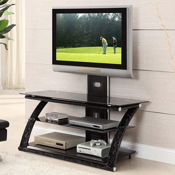 Innovex Glass/ Metal 3 In 1 60 Inch TV Stand With Mount