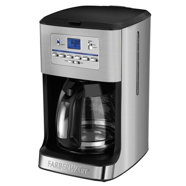 Farberware Stainless Steel 12-Cup Programmable Coffee and Tea Maker