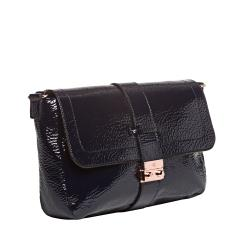 Mulberry Navy Patent Leather Shoulder Handbag - Thumbnail 1