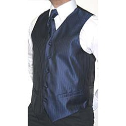 Ferrecci Men's 4-piece Vest Tie Accessory Set - Thumbnail 1