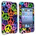 INSTEN Black Rainbow Peace Sign iPod Case Cover for Apple iPod Touch Generation 2/ 3